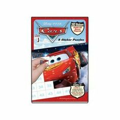 Disney Pixar Cars Sticker Puzzles - Book 1 by Lee Publications. $10.18. Ages 3 and up. Hours of fun and enjoyment. Includes Invisible Ink Book, Magic Pen and Stickers. Disneys/Pixars Cars are rolling on in for yet another fun filled activity. Your child will enjoy endless hours of entertainment with over 392 Stickers and 20 BONUS magnets. Place the numbered stickers on the numbered grid to create the Cars scenes, then use your BONUS MAGNETS to display them!!