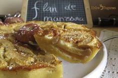 Delicioso Flan de Manzanas. Un postre casero súper rico, súper fácil de preparar y con un gran sabor a manzana.