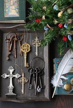 old key & cross, christmas