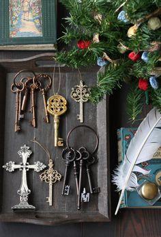 old key & cross, christmas