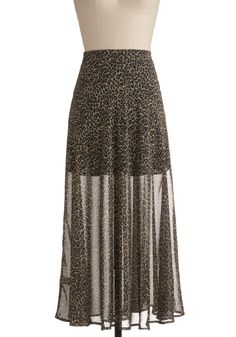 Leopard Lengths Skirt - ModCloth (Don't like the print, but love the style.)