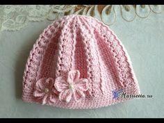 Free Crochet Cloche Hat Pattern with Flower Double Crochet Beanie Pattern, Crochet Pattern Central, Crochet Baby Hat Patterns, Crochet Baby Beanie, Modern Crochet Patterns, Baby Hats Knitting, Crochet Winter Hats, Crochet Hats, Crochet Braids