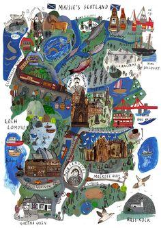 Maisie Shearring - Map of Scotland