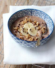Warme havermout met cacao en banaan | Flairathome.nl
