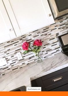 White Cabinets With Slate Backsplash And Pics Of White Kitchen Cabinets  Diy. #kitchencabinets #