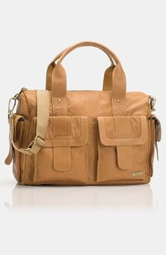 My next diaper bag. Starting a contribution fund. Storksak 'Sofia' Leather Diaper Bag available at #Nordstrom