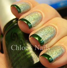 Green Shimmer with Green Tips