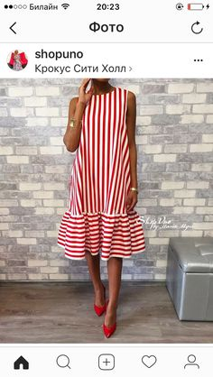 Commuting High-Waist Pleated Halflong Sleeve Casual Dress Crew Neck Red Women Summer Dress A-line Daily Basic Paneled Dress