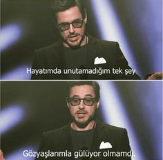 Ve işte senelerin eskitemediği adam robin Movie Lines, Robert Downey Jr, Meaningful Words, Tony Stark, Book Quotes, Movie Quotes, Beautiful Words, Cool Words, Quotations