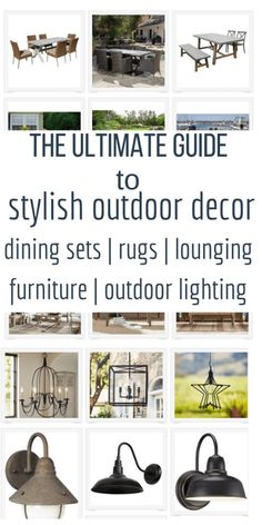 Create the perfect outdoor space with this comprehensive outdoor decor guide! Enjoy your summer with a new outdoor space!  #outdoordecor #summerdecor #porchdecor #porch