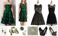2012 Fall Green satin with black lace Vs black lace dress Green Satin Dress, Satin Dresses, Formal Dresses, Green Cocktail Dress, Cocktail Dresses, Different Dresses, Stylish Outfits, Bridesmaid Dresses, My Style