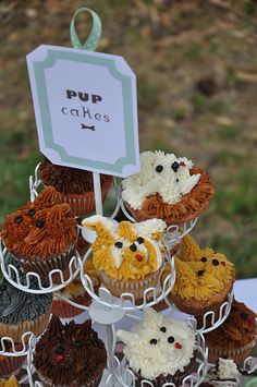 Pup cakes!  This website has really cute names for the puppy theme food