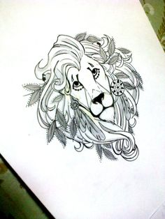 geometric lion tattoo - Pesquisa Google