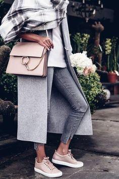 Chloe Faye bag + Lanvin pink sneakers
