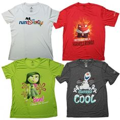 "new character apparel for both women and men at the runDisney Health & Fitness Expo. Two of the designs were inspired by previous Disney Parks Blog articles from my fellow author Aubrey Hang – the Disgust shirt and the Anger shirt from Disney-Pixar's ""Inside Out."" Look out for additional designs with Olaf from Disney's ""Frozen"" and two shirts with characters from a galaxy far, far away."