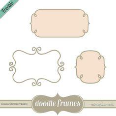 doodle frames custom Photoshop shapes