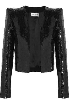 Black sequined crepe Slips on Fabric1: 61% polyester, 22% acetate, 17% viscose; fabric2: 53% acetate, 47% viscose; lining: 100% silk Spot clean Made in France