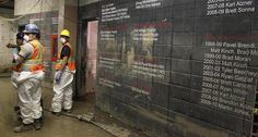The restoration process at Scotiabank Saddledome in Calgary started.