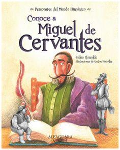 Es una novela autobiográfica de Cervantes, pero dirigida a los niños pequeños. En el aparece el autor escribiendo un libro, con una larga pluma rosa. Se supone que ese libro es Don Quijote, porque podemos ver a este mismo y a Sancho Panza como fruto del pensamiento de Cervantes.