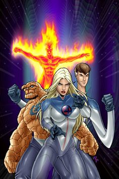 I liked a lot costumes for the new Fantastic Four anime (coming soon), so I decided to do a comic book version of the anime characters. just 4 fun. Fantastic Four anime Marvel Comics Art, Marvel Heroes, Comic Book Heroes, Comic Books Art, Book Art, Marvel Universe, Andre Luis, Fantastic Four Marvel, Comic Art Girls