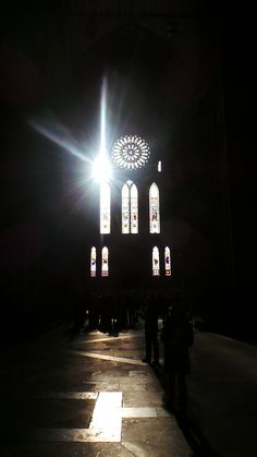 This morning's photo serotonin moment: Light burst south transept York Minster
