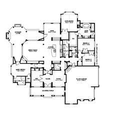 Traditional Style House Plan - 4 Beds 3 Baths 3500 Sq/Ft Plan #132-206 Floor Plan - Main Floor Plan - Houseplans.com  Perfect!!! Kitchen is awesome - the outside is exactly what I want and there is plenty of room!!!!  LOVE it!!!!!!