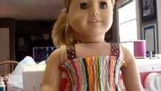 How to make a Gathered dress for your American Girl Doll Part 1 - YouTube