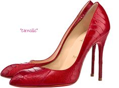 Louboutin heels made from ostrich leg leather
