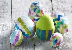 Craft Painting and Decoupage - DIY Colorful Easter Egg Decoration