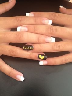 Nails done today! wu tang in the cut, for real niggaz whaaaaat