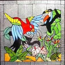 Image result for paintings that look like stained glass