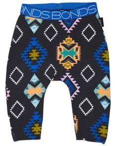 SURFSTITCH - KIDS - GIRLS CLOTHING - PANTS - BONDS BABY STRETCHIES PRINT LEGGING - NEON WARRIOR
