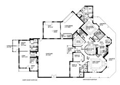 First Floor Plan of Contemporary   House Plan 85888