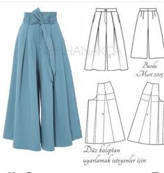 Sewing pants pattern costura Ideas for 2020 Sewing Clothes Women, Sewing Pants, Diy Clothes, Clothes For Women, Skirt Sewing, Barbie Clothes, Free Clothes, Crochet Clothes, Sewing Coat