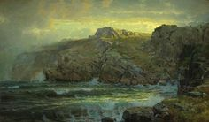 Artwork by William Trost Richards, Conanicut Island from Gray Cliff, Newport, R.I., Made of Oil on canvas