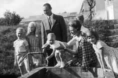 1964 - The GRAND DUCAL FAMILY of LUXEMBOURG : Grand Duke Jean of Luxembourg & his wife, Grand Duchess Josephine Charlotte, w/ their children, Prince Jean of Luxembourg, Archduchess Marie-Astrid of Austria,  Prince Guillaume of Luxembourg, Henri, Grand Duke of Luxembourg & Princess Margareta of Liechtenstein | Courtesy of Getty Images