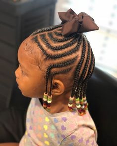 Hairstyles for short hair 41 Charming Kids Braided Hairstyle Ideas With Beads Braids will never go out of fashion. This is because braids give girls multiple options to fashion their hair. Box Braids Hairstyles, Toddler Braided Hairstyles, Toddler Braids, Black Kids Hairstyles, Baby Girl Hairstyles, Braids For Kids, Girls Braids, Hairstyle Ideas, Kids Braids With Beads