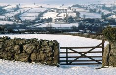 South Devon in England in the snow