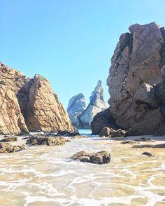 One of the most beautiful beaches in Portugal - Praia da Ursa, Sintra National Park.
