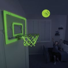 Glow in the Dark Indoor Basketball Hoop #CoolGadgets, #Entertainment, #Games, #Sports