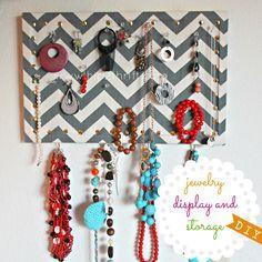hip2thrift: DIY Jewelry Display and Storage