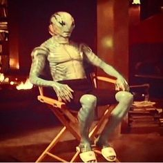Actor Doug Jones Shares a of When He Was Wearing Slippers as Abe Sapien on the Set of Hellboy Abe Sapien, Fish Man, We Are The Ones, Ronald Mcdonald, Sci Fi, Aqua, Character Design, Fandoms, Hero