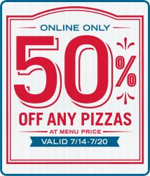 50% off Any Pizza from Domino's