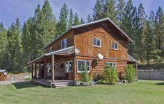 Gorgeous log cabin home outside of Spokane WA