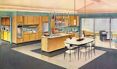 mid century modern kitchens - Google Search