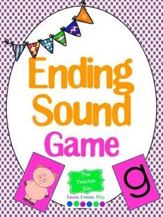 Ending Sound Game Card game of letters and pictures. Great game for kiddos to play!  They like the game because because they don't realize they're learning!
