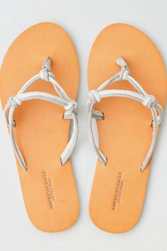 7c97c9aeff18 American Eagle Outfitters AE Knotted Flip Flop Grey Flip Flops