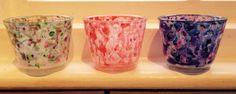 Colour wash votives.