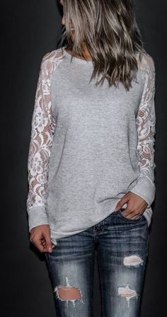 Laid Back Lace sleeve top by Seasalt & Honey