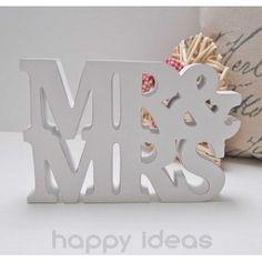 Bloque madera Mr&Mrs